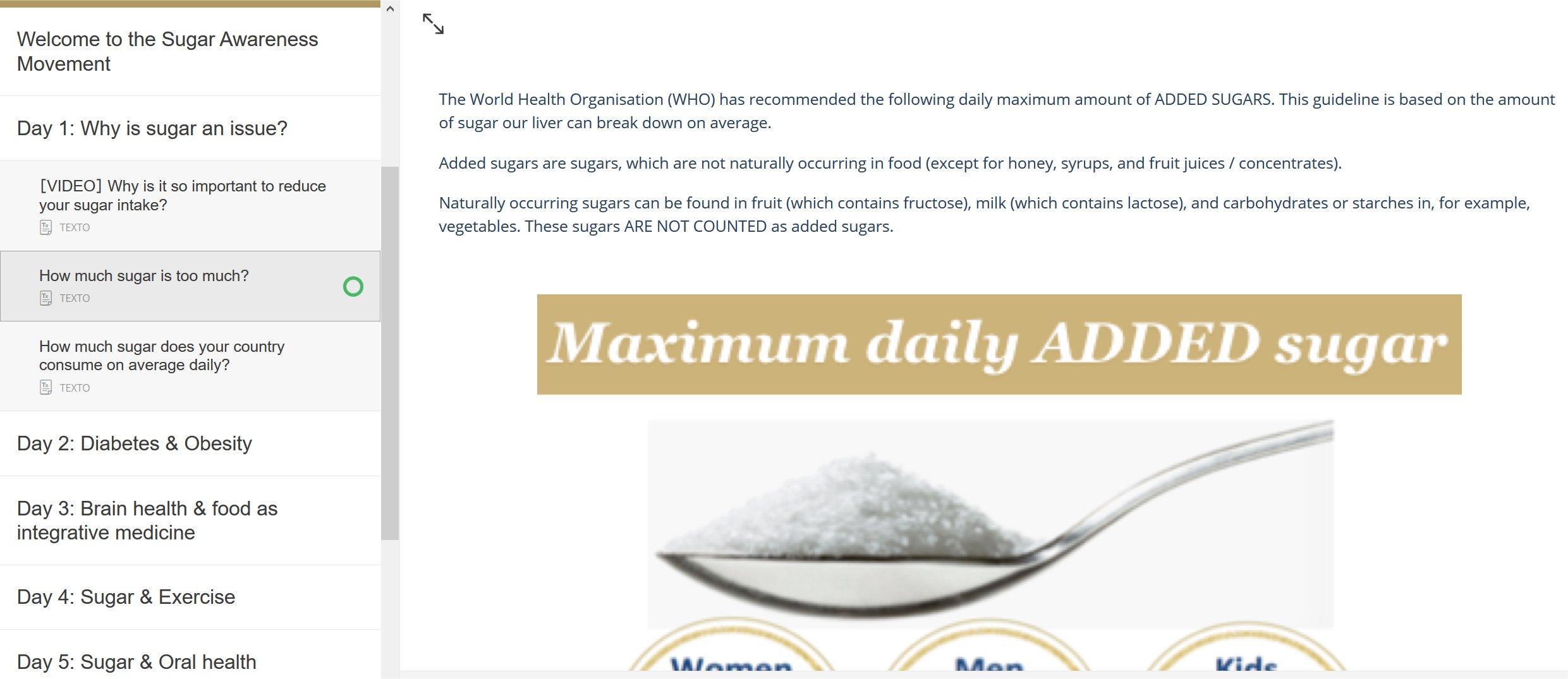 Sugar Awareness Week Day 1